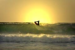 Sunset Bodyborder Stock Image