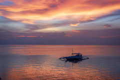 Sunset in Bohol, Philippines Stock Photo