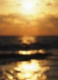 Sunset bokeh background. Sunset sea bokeh defocused background Royalty Free Stock Photo