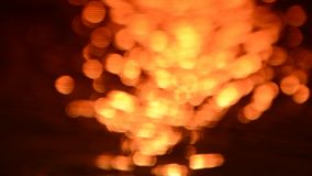 Sunset bokeh blur color moving stock video footage