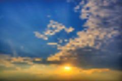 Sunset bokeh Royalty Free Stock Image