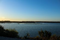 Sunset at bolsa chica wetlands Stock Photography