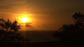 Sunset on Bonaire stock footage