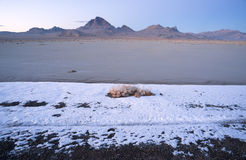 Sunset Bonneville Salt Flats Utah Silver Island Mountain Range Stock Images