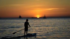 Sunset boracay royalty free stock image