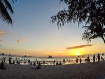 Sunset. On Boracay island, Philippines Royalty Free Stock Image
