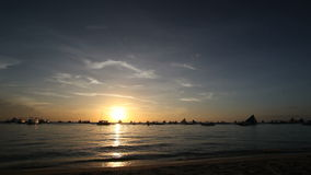 Sunset on Boracay, Philippines stock video footage