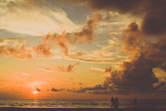 Sunset in Borneo Royalty Free Stock Photography