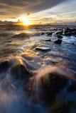 Sunset at Borneo, Sabah, malaysia Stock Images