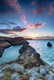 Sunset at Boscastle in Cornwall Royalty Free Stock Photos
