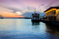 Sunset In Bosphorus Royalty Free Stock Photography
