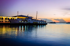 Sunset In Bosphorus Stock Photo