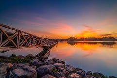 Sunset at botanic park. This botanic park located at Putrajaya, Malaysia Stock Photo