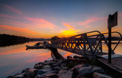 Sunset at botanic park. This botanic park located at Putrajaya, Malaysia Royalty Free Stock Photography