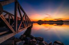 Sunset at botanic park. This botanic park located at Putrajaya, Malaysia Royalty Free Stock Image