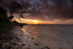 Sunset Botany Bay Sydney Stock Image