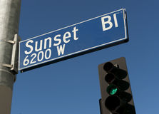 Sunset Boulevard Stock Photo