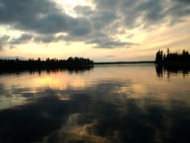 Sunset in boundary waters Stock Images