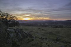Sunset From Bradgate. Royalty Free Stock Photo