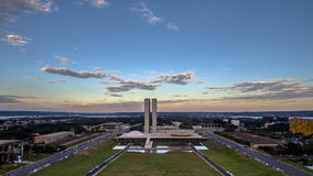 Sunset in Brasilia. Showing Congresso Nacional building Royalty Free Stock Photos