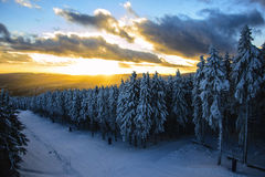 Sunset in Braunlage Stock Photos