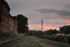 Sunset in Braunschweig royalty free stock photography