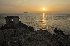 Sunset from Brean Down Royalty Free Stock Image