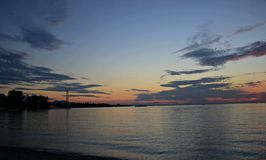 Sunset at Bregenz, Austria Royalty Free Stock Photo