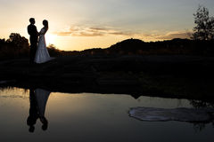 Sunset bride Stock Photos