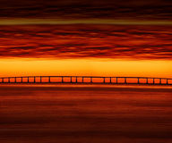 Sunset Bridge Stock Photography