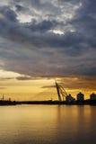 Sunset bridge Royalty Free Stock Photography