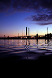 Sunset Bridge. Captured from Dockland, Australia during sunset. The water was calm and relaxing Stock Images