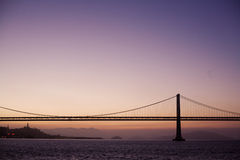 Sunset Bridge. Sunset view of Bridge in San Francisco Stock Image