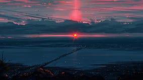 Sunset Bridge. Beautiful shot at sunset Royalty Free Stock Photography