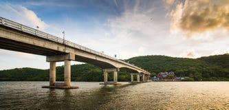 Sunset at Bridge Royalty Free Stock Image