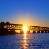 Sunset bridge Royalty Free Stock Images