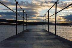 Sunset at a bridge Stock Photography