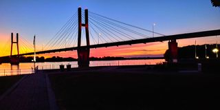 Free Sunset Bridge Quincy Illinois Beautiful Royalty Free Stock Photo - 162537805
