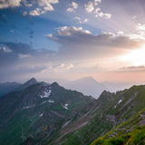 Sunset from Brienzer Rothorn Royalty Free Stock Image