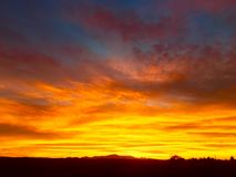 Sunset and bright colours Royalty Free Stock Images
