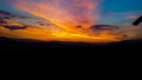 Sunset. Bright Dramatic Sky And Dark Ground stock photography