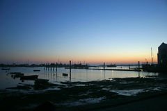 Sunset at Brightlingsea Stock Photography