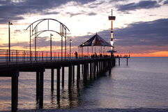 Sunset at Brighton (2). The sunset at the Brighton Jetty, South Australia Royalty Free Stock Image