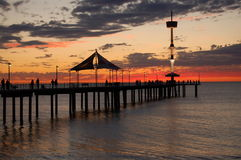 Sunset at Brighton. The sunset over the Brighton Jetty Royalty Free Stock Photo