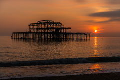 Sunset at Brighton Royalty Free Stock Images