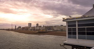 Sunset in Brighton Royalty Free Stock Photography