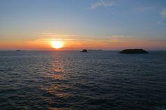 Sunset in Brittany, Saint-Malo, France Stock Photo