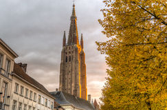 Sunset from bruge Stock Photo