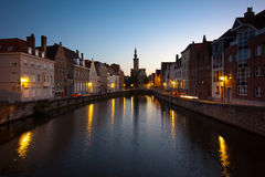Sunset in Bruges, Belgium Stock Photos