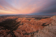 Sunset in Bryce National Park Stock Image